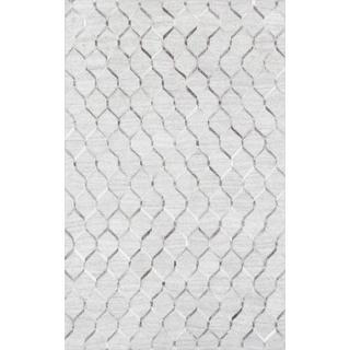 Pasargad Geometric Ivory Cowhide Rug (4' x 6')