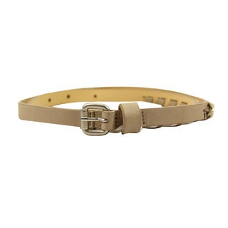 MaxandCo. White Leather Women's 33-inch Belt