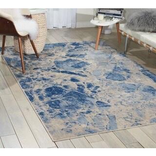Nourison Somerset Blue Rug (5'3 x 7'5)