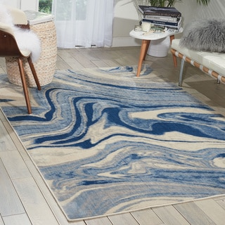 Nourison Somerset Light Blue Rug (5'3 x 7'5)