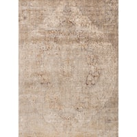 Traditional Beige/ Grey Medallion Distressed Rug - 7'10 x 10'10