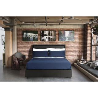 DHP Bridgeport Black Faux Leather Queen Bed