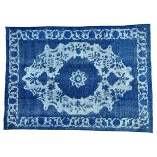 Handmade Overdyed Persian Tabriz Barjasta Oriental Rug (7'9 x 10'10)