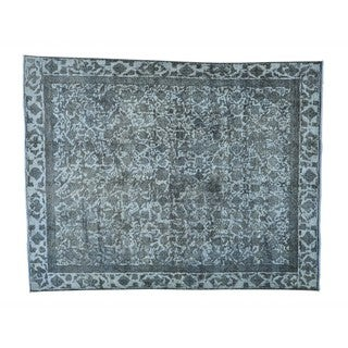 Overdyed Persian Tabriz Barjasta Handmade Oriental Rug (9' x 11'7)