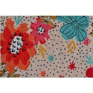 Hand-hooked Parker Floral Polyester Area Rug (2'8 x 4'8)