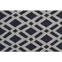 Hand-hooked Diamonds Grey Polyester Area Rug - 2'8 x 4'4