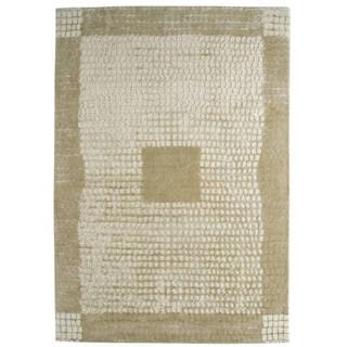 Indian Hand-tufted Marrakesh Beige Rug (4'6 x 6'6)