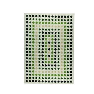 Indian Hand-tufted Dublin Green Rug (4'6 x 6'6)