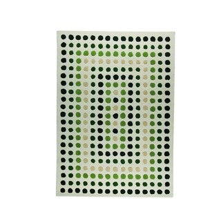 M.A.Trading Indian Hand-tufted Dublin Green Rug (3'x5'4)