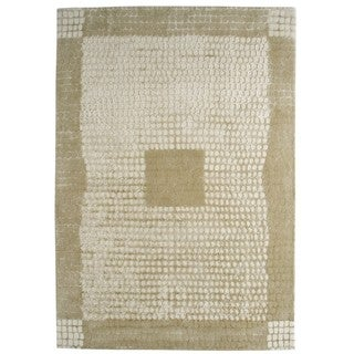 Indian Hand-tufted Marrakesh Beige Rug (5'6 x 7'10)