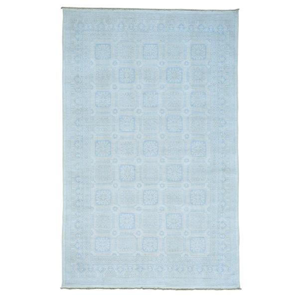 Beige Khotan 100 Percent Wool Hand-knotted Oriental Rug (6' x 9'5) - 2'4 x 20'1