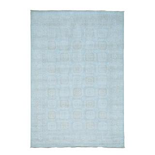 Beige Khotan 100 Percent Wool Hand-knotted Oriental Rug (6'1 x 8'10)