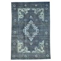 Overdyed Persian Tabriz Barjasta 100 Percent Wool Rug (7'8 x 11'5)
