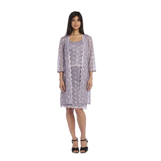 R&M Richards Women's Lace Coat Dress