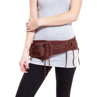Handmade The Gypsy Duo Leather Duo Pack Hip Bag Belt (India)