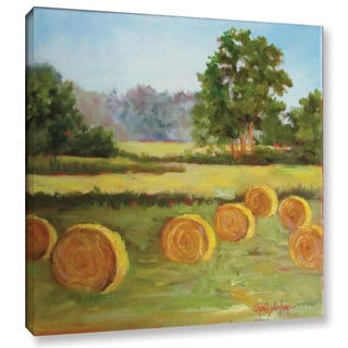 Cheri Wollenberg's 'Bales In The Summer' Gallery Wrapped Canvas