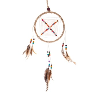 Rainbow Kite Hemp Dream Catcher (Nepal)