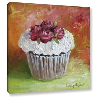 Cheri Wollenberg's 'Cupcake With Frosting Of Roses' Gallery Wrapped Canvas
