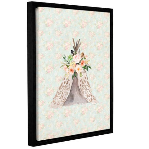 Tara moss's 'Teepee On Floral' Gallery Wrapped Floater-framed Canvas