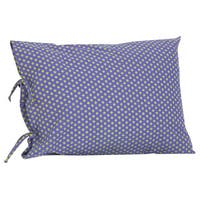 Periwinkle Plain Pillowcase with Ties