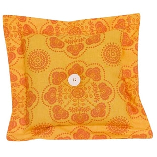 Gypsy Yellow and Orange Decor Throw Pillow