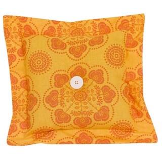 Gypsy Yellow and Orange Decor Throw Pillow
