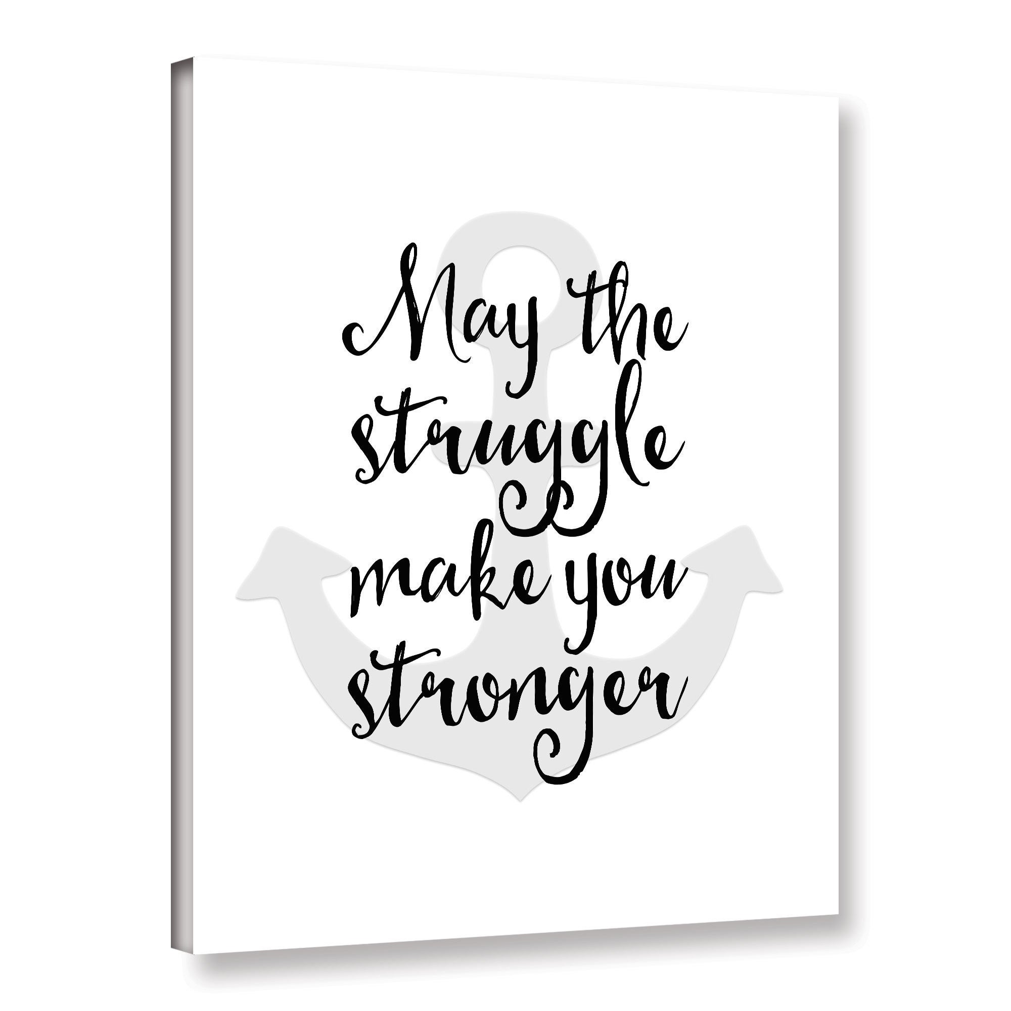 26490b66e0d Tara moss s  May The Struggle Quote  Gallery Wrapped Canvas