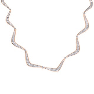 Finesque Rose Gold Over Silver Diamond Accent Necklace