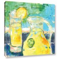 Pamela J. Wingard's 'Glass Half Full' Gallery Wrapped Canvas - Multi
