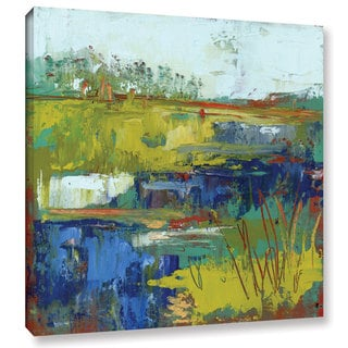 Pamela J. Wingard's 'Abstract Marsh III' Gallery Wrapped Canvas