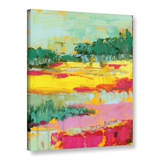 Pamela J. Wingard's 'Abstract Marsh Bright' Gallery Wrapped Canvas