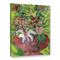 Pamela J. Wingard's 'Red Cachepot' Gallery Wrapped Canvas