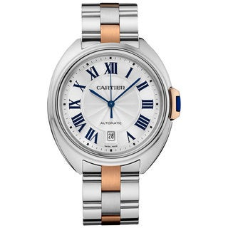 Cartier Women's W2CL0004 Cle De Cartier Round Two-tone Stainless Steel Bracelet Watch