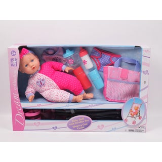 Gi-Go Toy 14-inch Baby Doll with Stroller Set