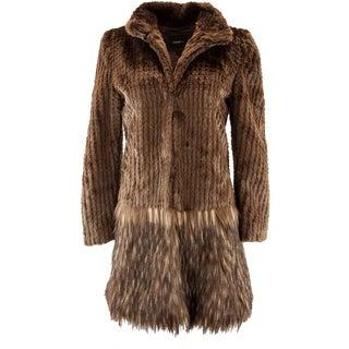 Unreal Fur A Cappella Faux Fur Coat in Chocolate