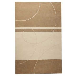 M.A.Trading Indian Hand-tufted Trenza Beige Rug (7'6 x 9'6)