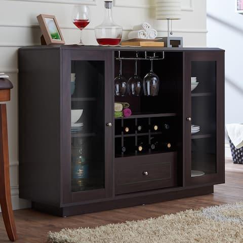 Furniture of America Karthen Espresso Multi-Storage Dining Buffet
