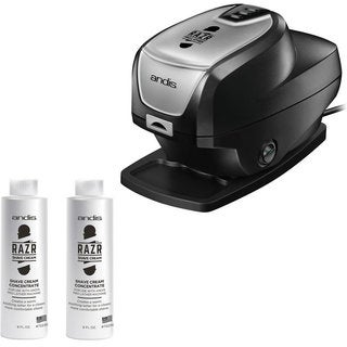 Andis Razr Lather Machine 72225 with Razr Shave Cream Concentrate (2 units)