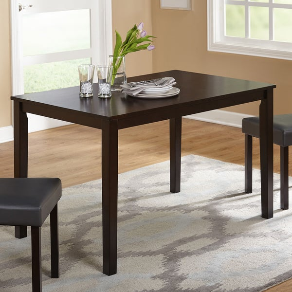 simple living elinda dining table free shipping today overstock