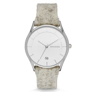 Skagen Women's SKW2386 'Holst' Merino Wool White Leather Watch
