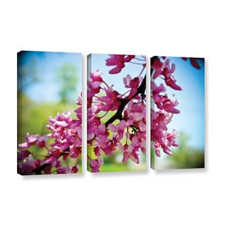 Amber Berninger's 'Spring Redbud, 3 Piece Gallery Wrapped Canvas Set