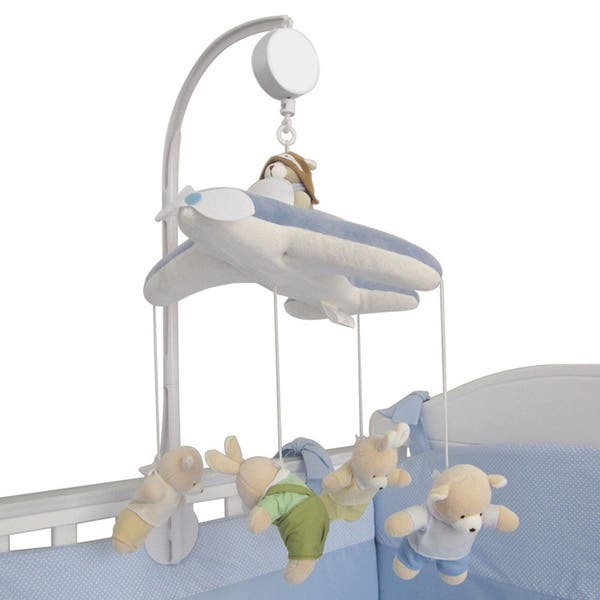 Deerbb Baby Crib Mobile Arm with Music Box Holder for Boys Girls Bracket Nut Screw Box Baby Cot Bed Stent Set