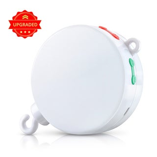 Battery-operated Musical Baby Mobile Music Box with 128M Micro SD Card that Plays 12 Tunes