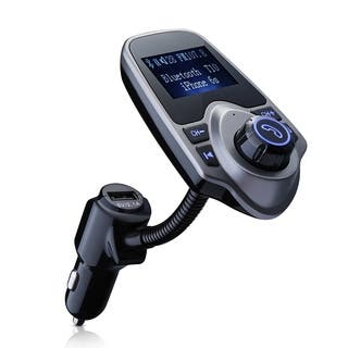 Bluetooth FM Transmitter and USB Car Charger Wireless Car Kit with 3.5mm Audio Port, and TF Card Slot - Black|https://ak1.ostkcdn.com/images/products/11541595/P18487510.jpg?impolicy=medium