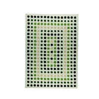 M.A.Trading Indian Hand-tufted Dublin Green Rug - 5'6 x 7'10