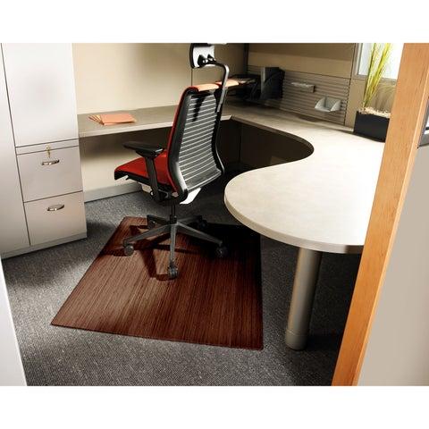 Jani Eco Bamboo Roll-up Rectangular Walnut Chair Mat