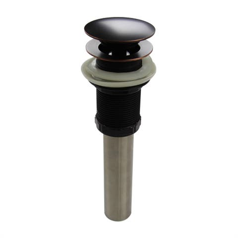 Highpoint Collection Oil Rubbed Bronze Umbrella Drain without Overflow For Bathroom Sink