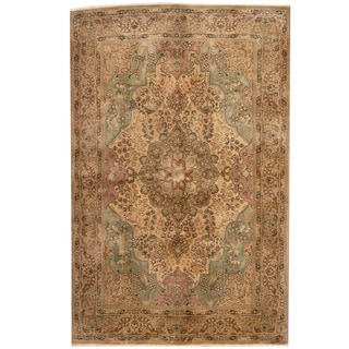 Herat Oriental Persian Hand-knotted 1940s Semi-antique Tabriz Wool Rug (6'6 x 10'2)