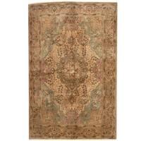 Handmade Herat Oriental Persian 1940s Semi-antique Tabriz Wool Rug (Iran) - 6'6 x 10'2