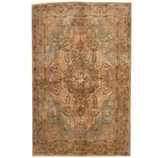 Herat Oriental Persian Hand-knotted 1940s Semi-antique Tabriz Wool Rug (6'6 x 10'2) - 6'6 x 10'2